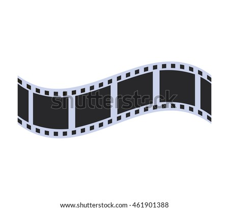 Cinema and Movie concept represented by film strip icon. Isolated and flat illustration