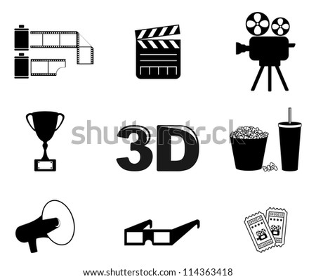 Cinema and movies icon - stock vector