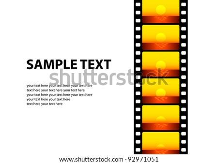 Cinema background - stock vector