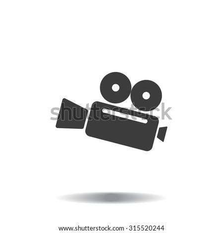 Cinema camera icon - stock vector