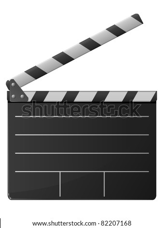 cinema clapper. vector - stock vector