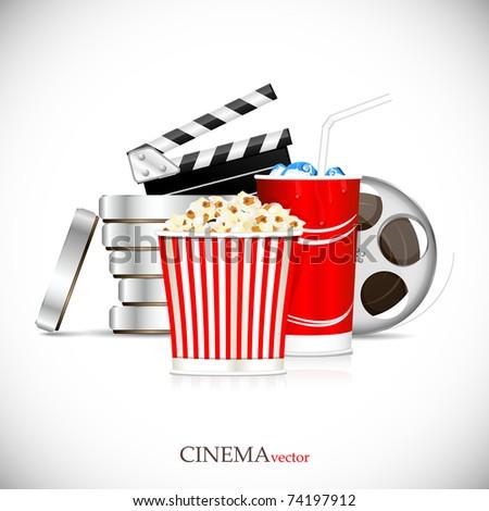 Cinema element. Cinematograph. - stock vector