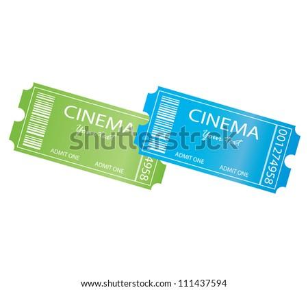 Cinema, entrance tickets. - stock vector