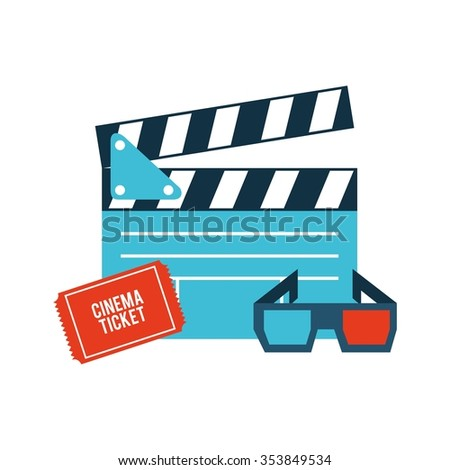 cinema film design, vector illustration eps10 graphic