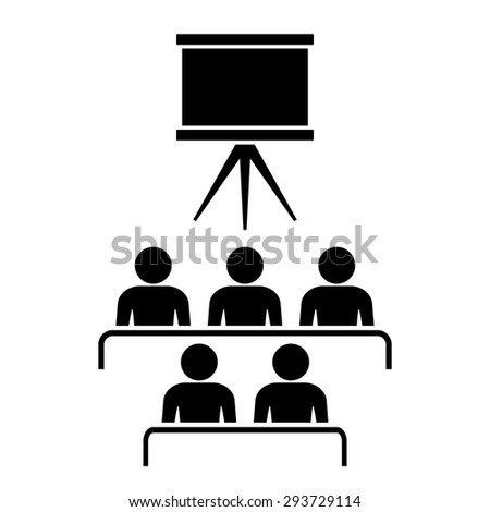 Cinema hall icon - stock vector