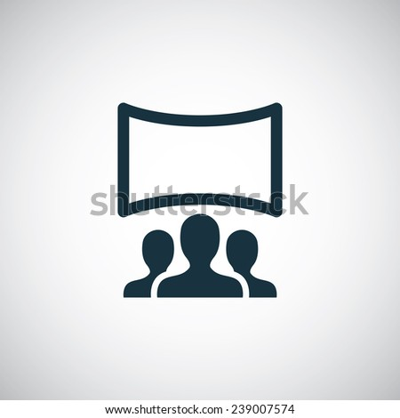 cinema hall icon on white background  - stock vector