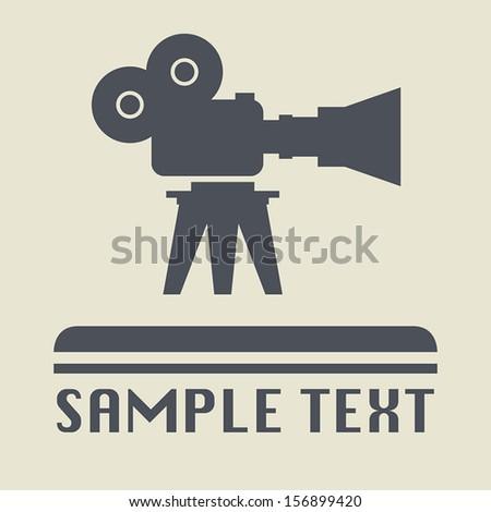Cinema icon or sign, vector illustration - stock vector