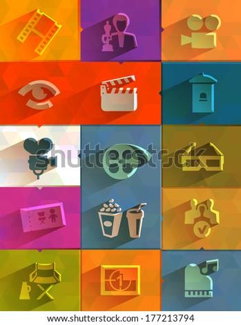 Cinema icon. Vector format - stock vector