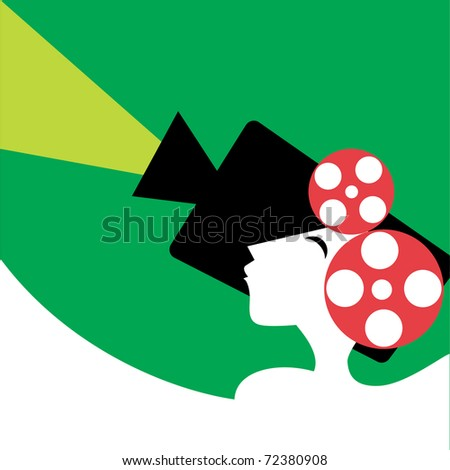 Cinema illustration - stock vector