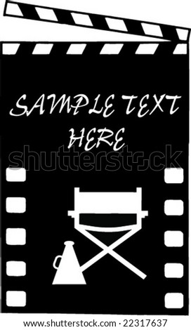 cinema illustration with producer instruments - stock vector