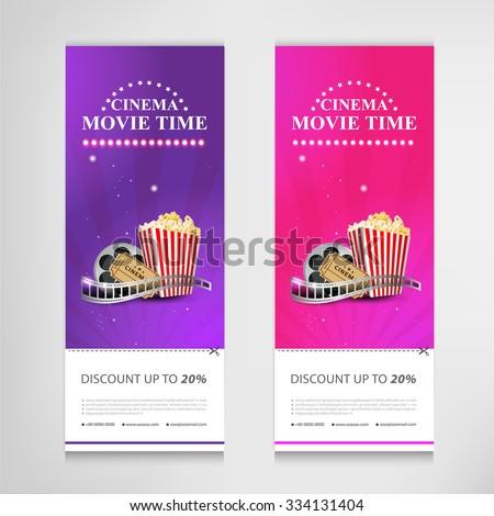 cinema movie poster template modern pattern vector design - stock vector