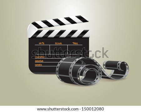 Cinema night vector illustration - stock vector
