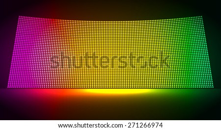 cinema screen for movie presentation. Light Abstract Technology background for computer graphic website internet and business. dark purple yellow green color. Pixel, mosaic, table. point, spot, dot - stock vector