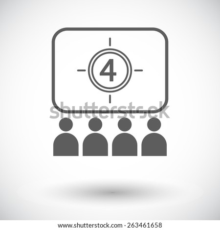 Cinema. Single flat icon on white background. Vector illustration. - stock vector