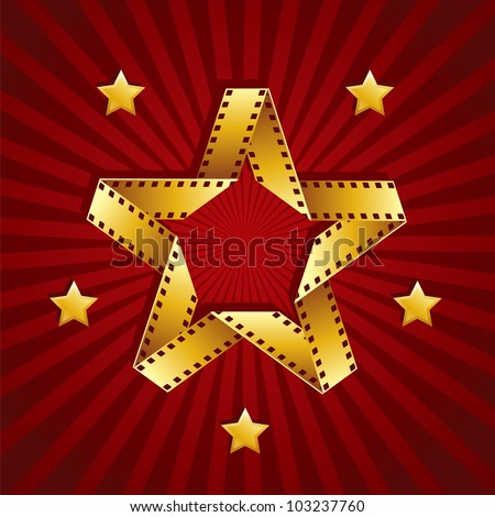 Cinema star of film - stock vector