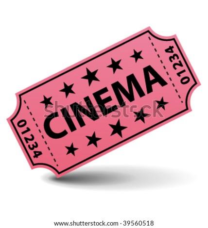 Cinema ticket vector illustration. - stock vector