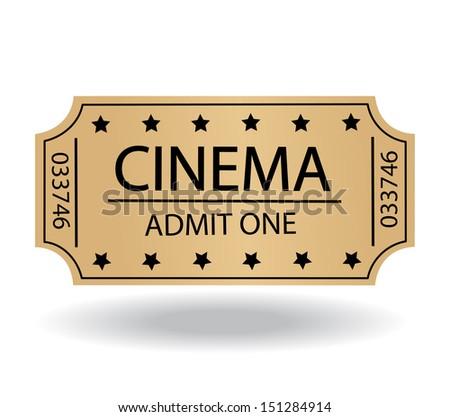cinema tickets - stock vector