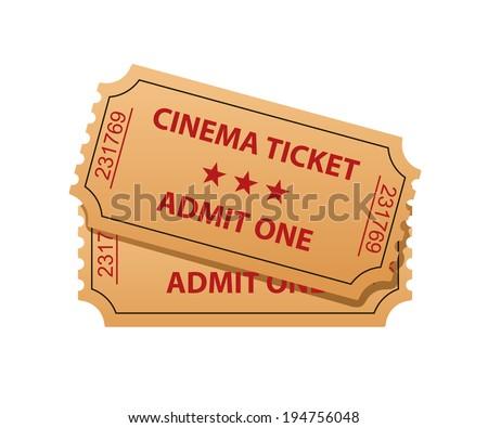 Cinema tickets. Admit one. Vector illustration - stock vector
