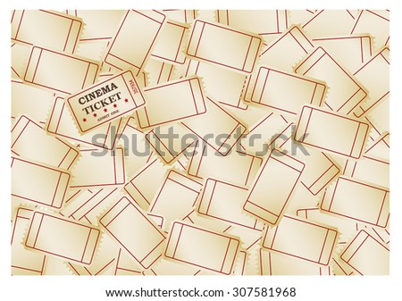 Cinema tickets -background, vector ,eps 10 clipping mask - stock vector