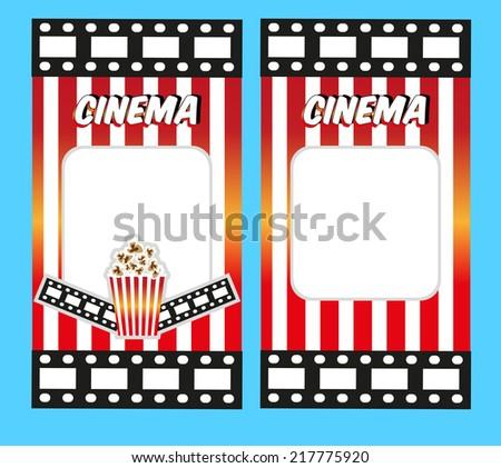 Cinema Tickets. Invitation design template - stock vector