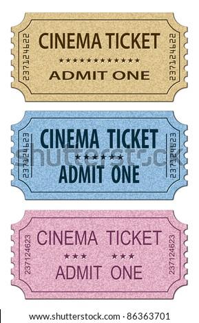 Cinema Tickets Set. Vector illustration - stock vector