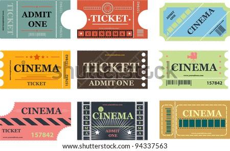 Cinema tickets vector - stock vector