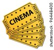 Cinema tickets. Vector icon. - stock vector