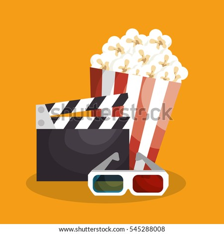 Cinematographic entertainment isolated icons