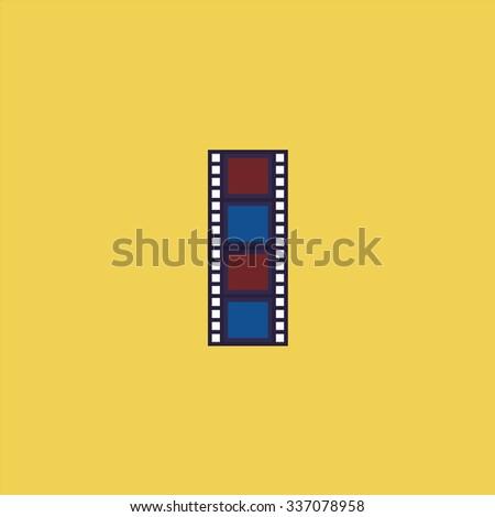 Cinematographic film. Icon Vector. Icon Picture. Icon Graphic. Icon Art. Icon JPG. Icon JPEG. Icon EPS. Icon AI. Icon FLAT. Icon SIMPLE - stock vector