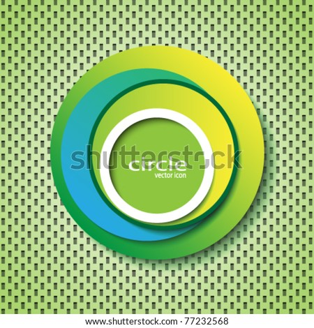 circle abstract cover / logo - stock vector