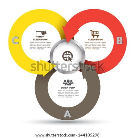 Circle arrow with icons. Can use for business concept, loop diagram, education template.