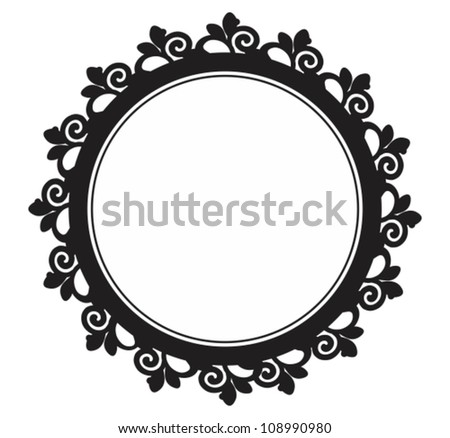 circle baroque border leafsvictorian frame stock vector 108990980 rh shutterstock com simple victorian frame vector victorian frame vector free