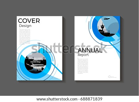 circle blue cover abstract modern cover book brochure template design annual report magazine