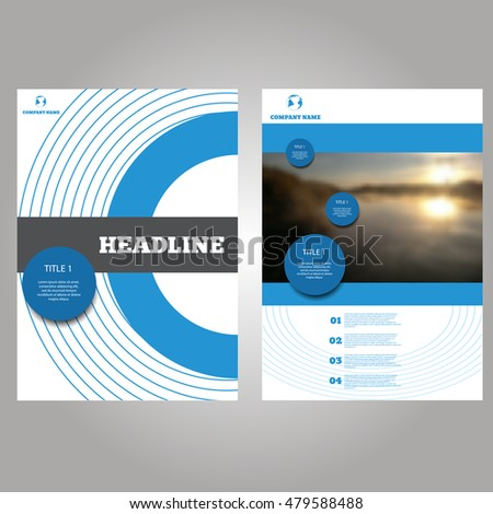 circle brochure template - circle blue vector annual report leaflet stock vector