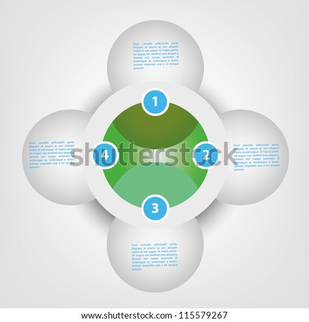 Circle business diagram template