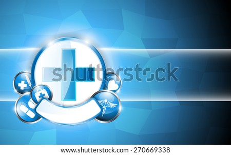 circle button medical concept abstract design background