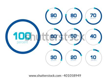circle chart graph flat design percentage stock vector royalty free
