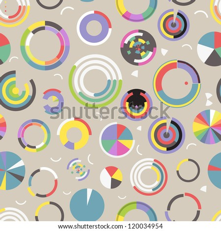 Circle chart seamless pattern - stock vector