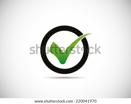 Circle Check - stock vector