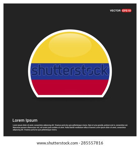 Circle colombia flag sticker