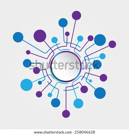 Circle Connection - stock vector