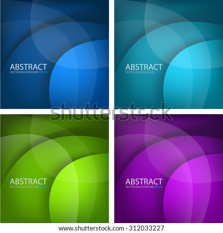 Circle curve layer paper vector background set with space for text and message design