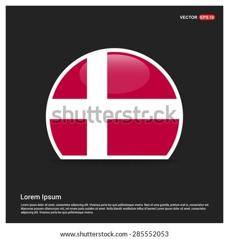 Circle denmark flag sticker