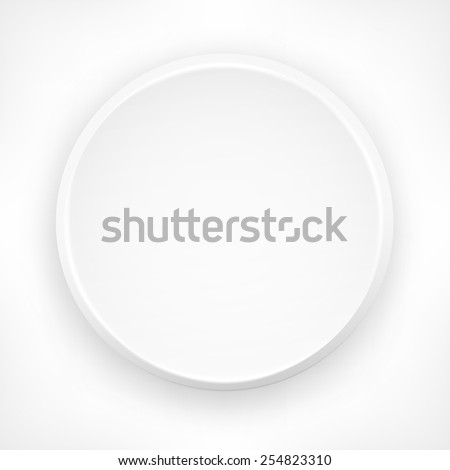 Circle design elements on white, vector illustration - stock vector