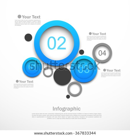 Circle design infographic template with four options vector illustration - stock vector