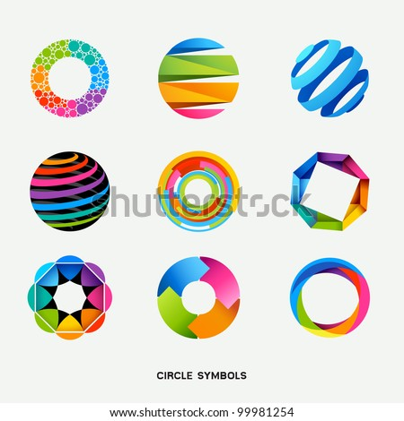 Circle Design Symbols Collection - Vector illustration - stock vector