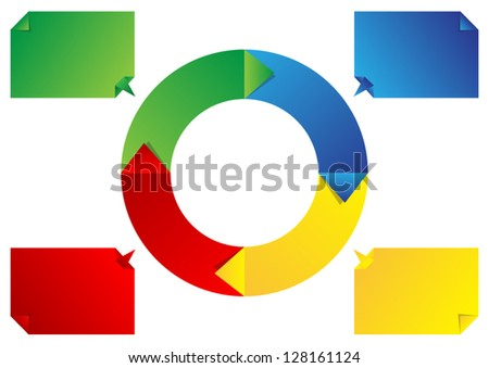 Circle diagram - stock vector
