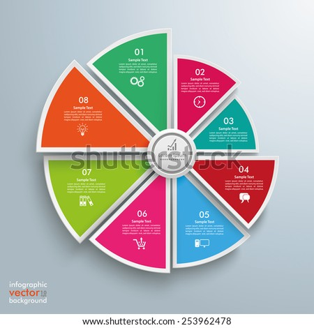 Circle diagram on the gray background. Eps 10 vector file. - stock vector