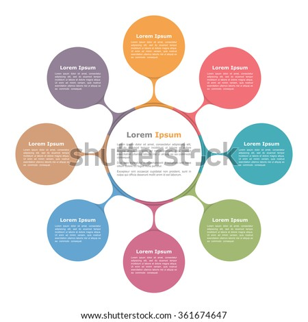 Diagram stock images royalty free images vectors shutterstock circle diagram with eight elements infographic template vector eps10 illustration ccuart Image collections