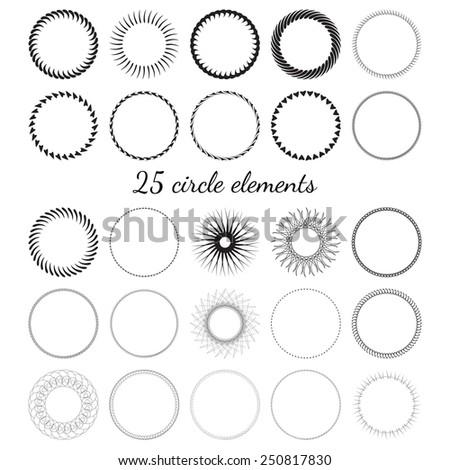 Circle elements - stock vector